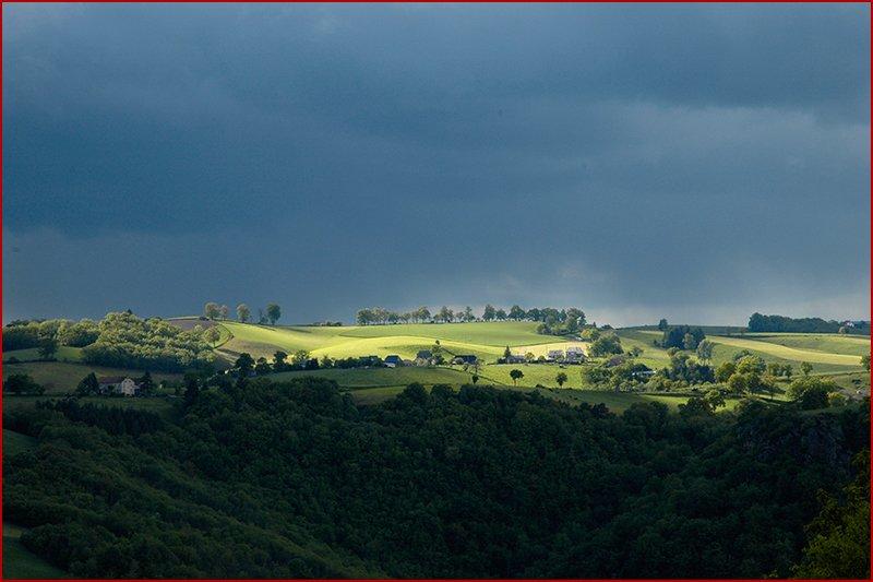 Uitzicht op de Cantal.